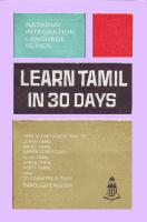 Learn Tamil in 30 Days